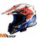 ASTONE Kask crossowy MX600 GRAPHIC GIANT BLUE/WHITE/RED