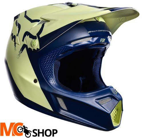 KASK FOX V-3 LIBRA INDIANAPOLIS NAVY/YELLOW