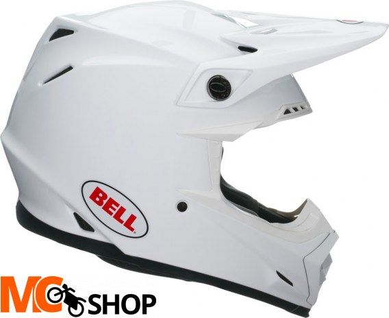 BELL MOTO-9 MIPS SOLID WHITE Kask Off-road