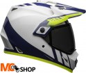 BELL KASK MX-9 ADVENTURE MIPS DASH WHITE/BLUE/HI