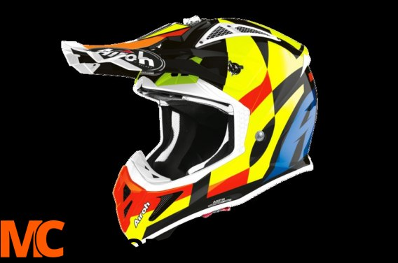 AIROH KASK OFF-ROAD AVIATOR ACE TRICK GLOSS