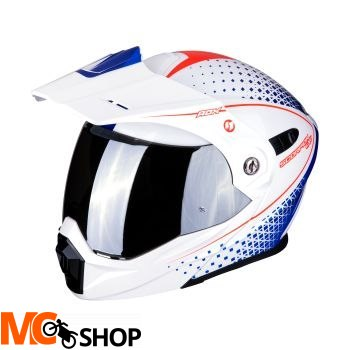 SCORPION KASK DUALE ADX-1 HORIZON PEARL WH-R-BLUE