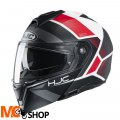 HJC KASK SYSTEMOWY I90 HOLLEN BLACK/WHITE/RED