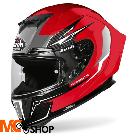 AIROH KASK INTEGRALNY GP550 S VENOM RED GLOSS