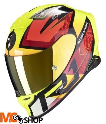 SCORPION KASK INTEGRALNY EXO-R1 INFINI BK-RED-F Y