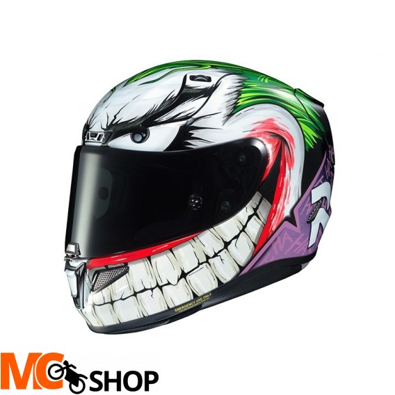 HJC KASK R-PHA-11 JOKER DC COMICS WHITE/GREEN